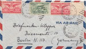 Airmail Issues 6c Alexandria Bicentennial (2) with 3c Puerto Rico 1949 New Y...
