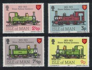 Isle of Man Steam Railway 4v 1973 MNH SG#35-38