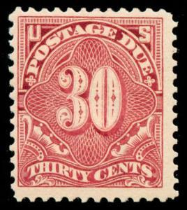 momen: US Stamps #J43 Claret Mint OG VLH VF