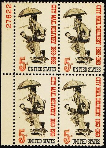United States. 1963 5c(Block of 4) S.G.1220 Unmounted Mint