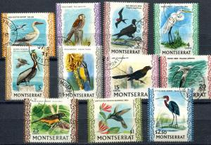 Montserrat SC# 231-9,41-2 (SG#242-50, 52-3) BIRDS, Used