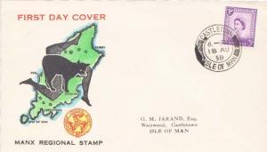 Isle of Man Scott 2 Rubberstamp Address.