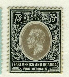 BRITISH EAST AFRICA; 1912 early GV issue fine Mint hinged Shade of 75c.