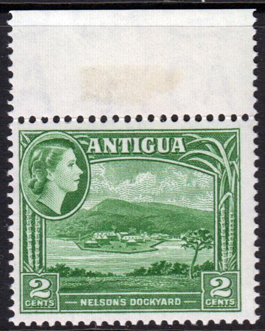 Antigua QEII 1953 2c Green SG122 Mint Never Hinged MNH UMM