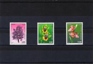Algeria 1994 Orchids Set (3) MNH Sc # 997-999