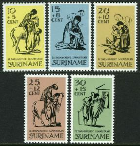 Surinam B132-B136, MI 514-518, MNH. Easter charities. The Good Samaritan, 1967