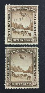 MOMEN: NEWFOUNDLAND #192,195 USED £50 LOT #7008
