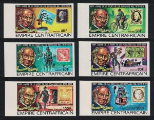 Central African Empire Sir Rowland Hill 6v Imperf Margins 1978 MNH