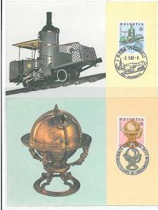 TRAINS - EUROPA : MAXIMUM CARD (2) - SWIZZERLAND 1983