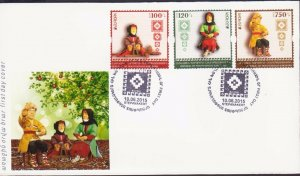NAGORNO MOUNTAINOUS KARABAKH ARMENIA 2015 FDC EUROPA OLD TOYS R17284b