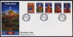 Gibraltar 774-8 FDC - Christmas, Art, Nativity