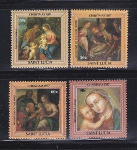 St Lucia 897-900 Set MNH Christmas