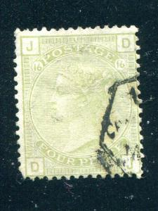Great Britain #70 Pl.16 Used VF   - Lakeshore Philatelics
