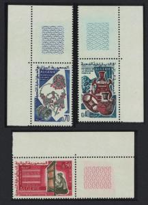 Algeria Grand Kahylie Handicrafts 3v Corners SG#455-457