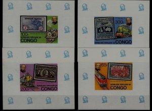 Congo 499-502 MNH s/s Trains/Hill