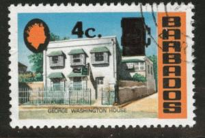 Barbados Scott 391 Used CTO favor cx surcharged 1974 stamp