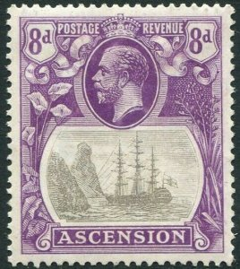 ASCENSION-1924-33 8d Grey-Black & Bright Violet Sg 17 MOUNTED MINT V33791