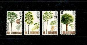 BRITISH HONDURAS #283-286  1971 HARDWOOD TREES OF BELIZE     MINT VF NH  O.G