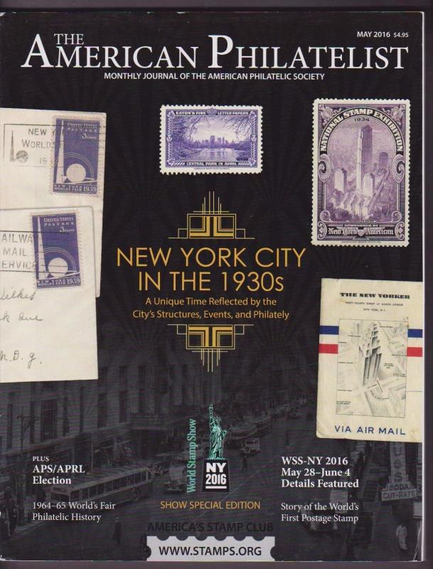 APS Magazine May 2016 , New York City In The 1930s - I Combine S/H