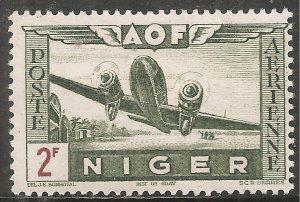 Niger Air Post Stamp - Scott #C8/CD88 2fr Multi OG Mint/LH 1942