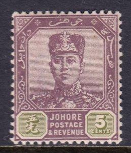 Malaya (Johore) - Scott #63 - MLH - SCV $2.50