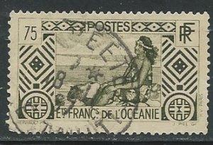 French Polynesia ||  Scott # 100 - Used