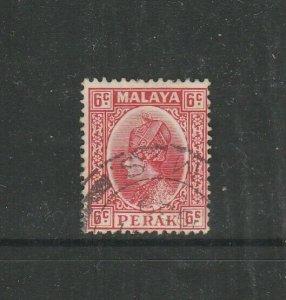 Malaya Perak 1935/7 6c Scarlet Used SG 92