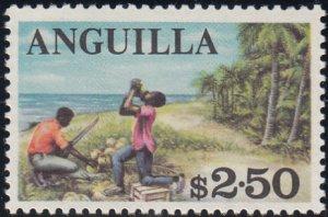 Anguilla 1967-68 MNH Sc #30 $2.50 Coconut harvest