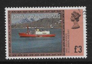 FALKLAND IS.DEP. SG88A 1980 £3 DEFINITIVE USED