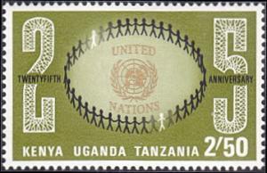 Kenya-Uganda-Tanzania # 224 mnh ~ 2.50sh UN Emblem