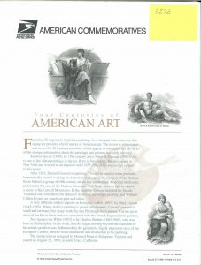 USPS COMMEMORATIVE PANEL #551 FOUR CENTURIES OF AMERICAN ART #3236