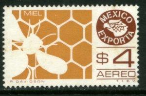 MEXICO Exporta C600, $4.00P HONEY Wmkd Fosfo Paper 2. MINT, NH. VF.