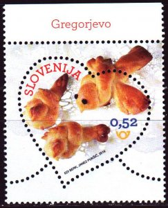 Slovenia. 2019. 1351. Valentine's Day, heart, gastronomy, food. MNH.