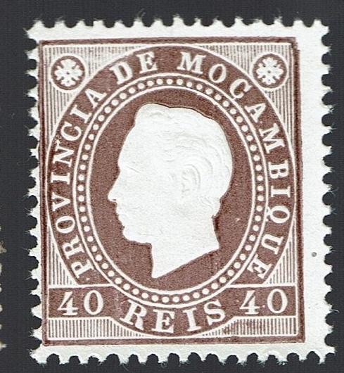 Mozambique 1886 D. Luis I Dent.12,5 MNG # 19