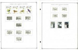 Turks & Caicos 1945-1986 Mint Hinged on Scott International Pages Thru 1999