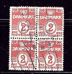 Denmark 221 Used 1933 Block of 4