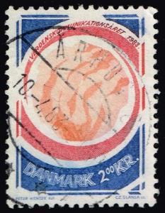 Denmark #732 World Communications Year; Used (0.50)
