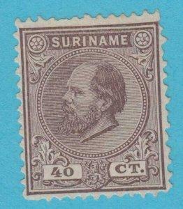 Suriname 13 N° Gomme comme Publié N° Défauts Très Fine