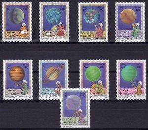 Somalia 1996 Mi#598/606+Bl.39 ASTRONOMY-SPACE-PLANETS-COMETS  Set (9) + S/S MNH