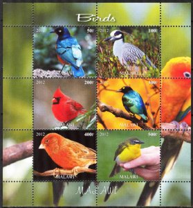 Malawi 2012 Birds (4) MNH Cinderella !