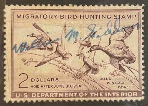 US Stamps #RW20 Used Federal Ducks #RW20A163