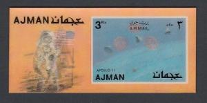Ajman, Mi cat. 1451, BL375. Apollo 11, 2-D s/sheet.