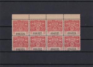 Argentina 10 Pesos 1921 Mint Never Hinged Revenue Stamps Block Ref 27749