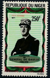 [I287]  Republic of Niger 1971 De Gaulle Airmail good stamp very fine MNH