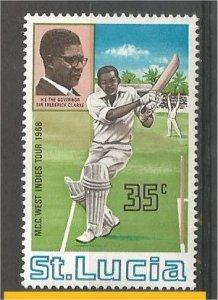 ST. LUCIA, 1968 MNH 35c Cricket Scott 230