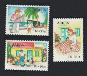 Aruba Fisherman Child Welfare 3v SG#249-251