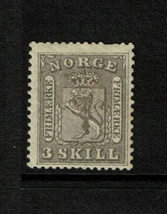 Norway SC# 7, Mint Hinged, Hinge Remnants, minor toning, see notes - S9189