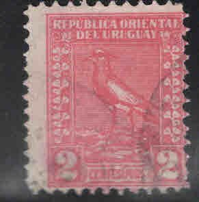 Uruguay Scott 311 Used Lapwing Bird, Imprenta National