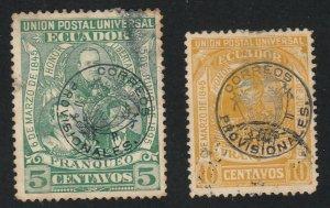 Ecuador - 1897 - SC 124-25 - Used - Stains