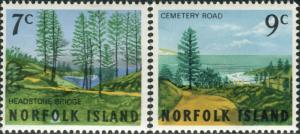 Norfolk Island 1966 SG72-73 Scenes set MNH